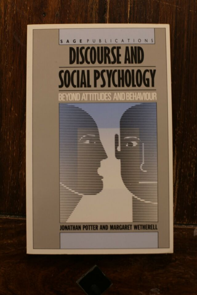 Discourse And Social Psycholohy
